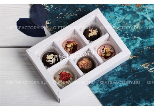 Набор шоколадных конфет ручной работы 6 шт
