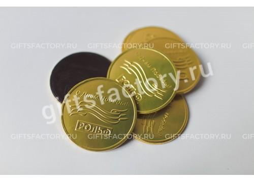 Подарок Шоколадные медали с логотипом компании
