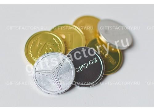 Подарок Шоколадные монеты